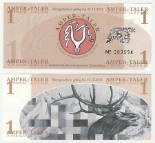 Germany - Dachau 1 Amper-Taler 2011 UNC Local Currency Polymer Banknote