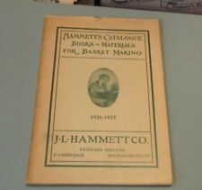 1926 1927 Hammett Catalogue of Books and Materials for Basket Making Cambridge