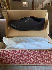 Vans Authentic Black / Black Unisex Lace Up Shoes Size 14 NWT