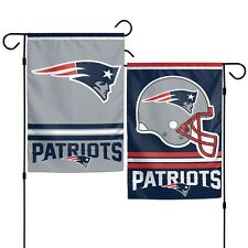 New England Patriots Polyester 12x18 2 SIDED Garden Yard Wall Flag NFL Hologram