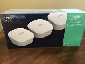 Eero J010311 AC Dual-Band Mesh Wi-Fi System 2.4GHz / 5GHz 3 Pack