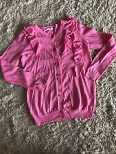 Crewcuts, Girls Size 8 Pink Ruffle Light Weight Cardigan.