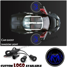2xCar Door Logo Projector Ghost Shadow Welcome Courtesy Led Light For Dodge Blue