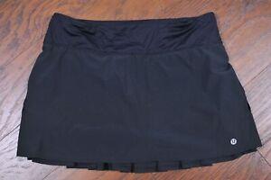 Lululemon Run: Speed Skirt Black Women's 8 Tall