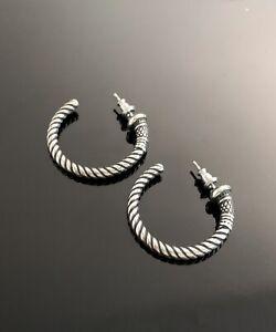 Brighton silver rope Hoop earrings
