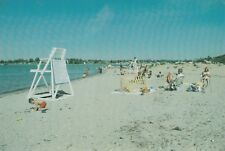 "*Connecticut Postcard-""Families Enjoy The Town Beach"" ...Clinton/"