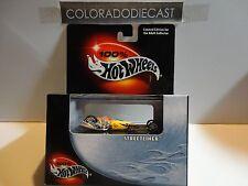 Hot Wheels 100% Black Box Yellow Streetliner w/Real Rider Wheels