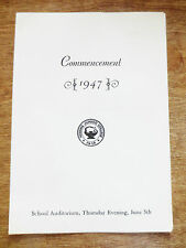 1947 Hibbing Junior College Commencement Graduation Program Class Minnesota MN