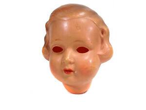 "Antique celluloid doll head, 4.3"", Minerva, marked ""5"""