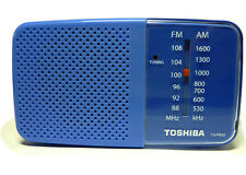 ***NEW*** TOSHIBA TX-PR20 Portable Pocket AM FM Radio - BLUE