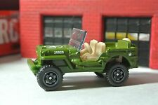 Matchbox Jeep Willys Military - Army Green - Loose - 1:64