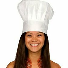 Chef Hat White Master Kitchen Costume Dress up Party Cook Baker BBQ Adult & Kids