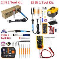 Electric Soldering Iron Tool Kit 60W Welding Gun,Digital Multimeter,Desoldering
