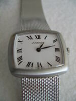 NOS NEW SWISS MECHANICAL HAND WINDING STAINLESS STEEL JUVENIA ANALOG WATCH 1960'