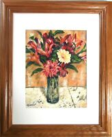Impressionist Original Oil Painting Bouquet Flowers Signed Hand-Painted Fine Art