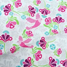 Rose Mètre//Fat Quarter//FQ Coton Toile Tissu Sew Craft Bright Fleurs Floral
