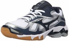 Womens Mizuno Wave Wave Bolt 5 Volleyball Shoes Size 7 White Navy Blue 430204