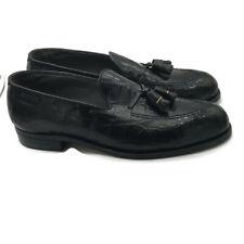 Footjoy Mens Classic Dress Alligator Loafers Black Leather Tassel Shoes 10.5C