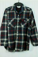Vintage Woolrich Wool Blend Plaid Flannel Shirt Men's S Classic Work Field Shirt