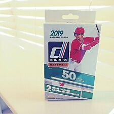 2019 DONRUSS 50 CT. BASEBAL CARDS, 2 HOLO ORANGE, 2 DIAMOND PARALLELS, NEW