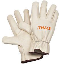 Stihl Full Grain Leather Work Gloves 0000 884 1194 Garden Worker Gloves
