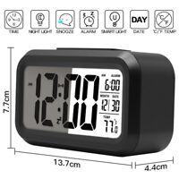 Numérique Réveil LED Digital Horloge Alarm Rétro-éclairage Calendrier