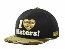 DGK I Heart Love Haters Motivation Black Tan Camo Snapback Cap Hat NEW