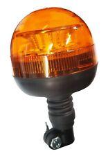 LED BEACON LOW PROFILE DIN Fitting Light 12v 24v Amber Spigot Pole