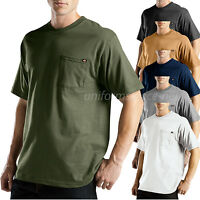Dickies T Shirt Men Short Sleeve Color Pocket Tee WS417 Cotton Moisture Wicking