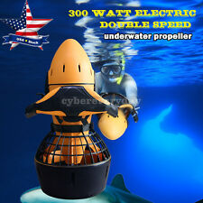 Diving Sea Scooter 300W Motor Waterproof Electric Dual Speed SafetyProp/6kmh Us