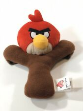 """Angry Birds Rovio Red Bird Plush 12"""" Slingshot Toy Red And Brown"""
