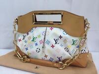 """Auth Louis Vuitton Monogram Multicolor Judy MM 2 Way Shoulder HandBag 8E260080t"""""""