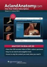 Acland Anatomy: Aclandanatomy.com : One-Year Online Subscription by Robert D....
