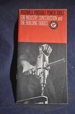 1966 *NEAR MINT* Rockwell Portable Power Tools Brochure