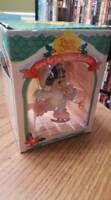 RARE Dark-Haired Precious Moments Enesco 1996 Holiday Ice Skating Ornament MINT
