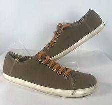 CAMPER Mens Size UK 12 46 Brown Canvas Lace Up Pumps Shoes