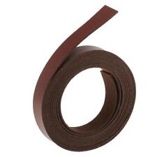 2 Meters Leather Strips Strap for DIY Leathercrafts Handle Making Wine Red