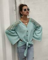 Pullover Jumper Long Sleeve Loose Casual Sweater Womens Tops T-Shirt Knitted
