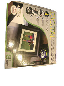 "Smartparts  8"" Digital WOOD  Picture Frame / STORE 2000 PHOTOS / WIRELESS REMOTE"