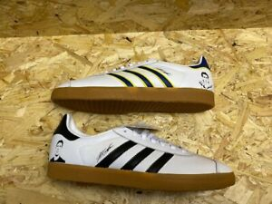 adidas Gazelle Custom Buffon Trainers Size 9 White Leather  Size 9 New in Box
