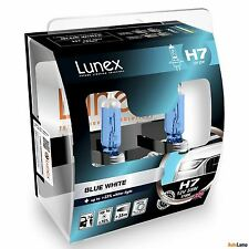 2x H7 Lunex Azul Blanco 3700K 55 W 12 V Coche Headlight Bulbs PX26d Estuche Duro