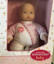 "Madame Alexander Sweet Baby Girl Nursery Doll 12"" Soft & Cuddly Doll Baby's 1st"