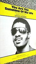 STEVIE WONDER: YOU ARE THE SUNSHINE OF MY LIFE (SHEET MUSIC)