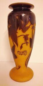 Große André Delatte Vase, Nancy, Frankreich um 1920