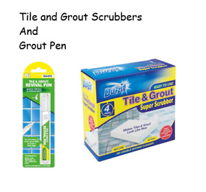 Tile and Grout Scrubbers, cleaner, and Grout Pen set, refresh old grout, clean