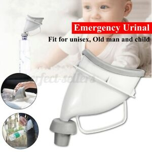 Portable Unisex Potty Pee Funnel Adult Urinal Stand UP Car Outdoor Toilet  #