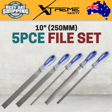 New Kincrome 5 Piece Mechanic Hand Tools Square Half Round File Set 250mm 10inch