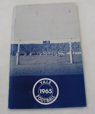 College Education Sports Athletics Yale University Football Schedule Illus. 1965