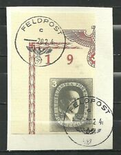GERMANY 1944 NAZI Ljubljana Unissued Hitler Birthday RARE USED