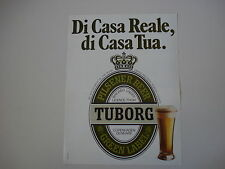 advertising Pubblicità 1980 BEER BIRRA TUBORG